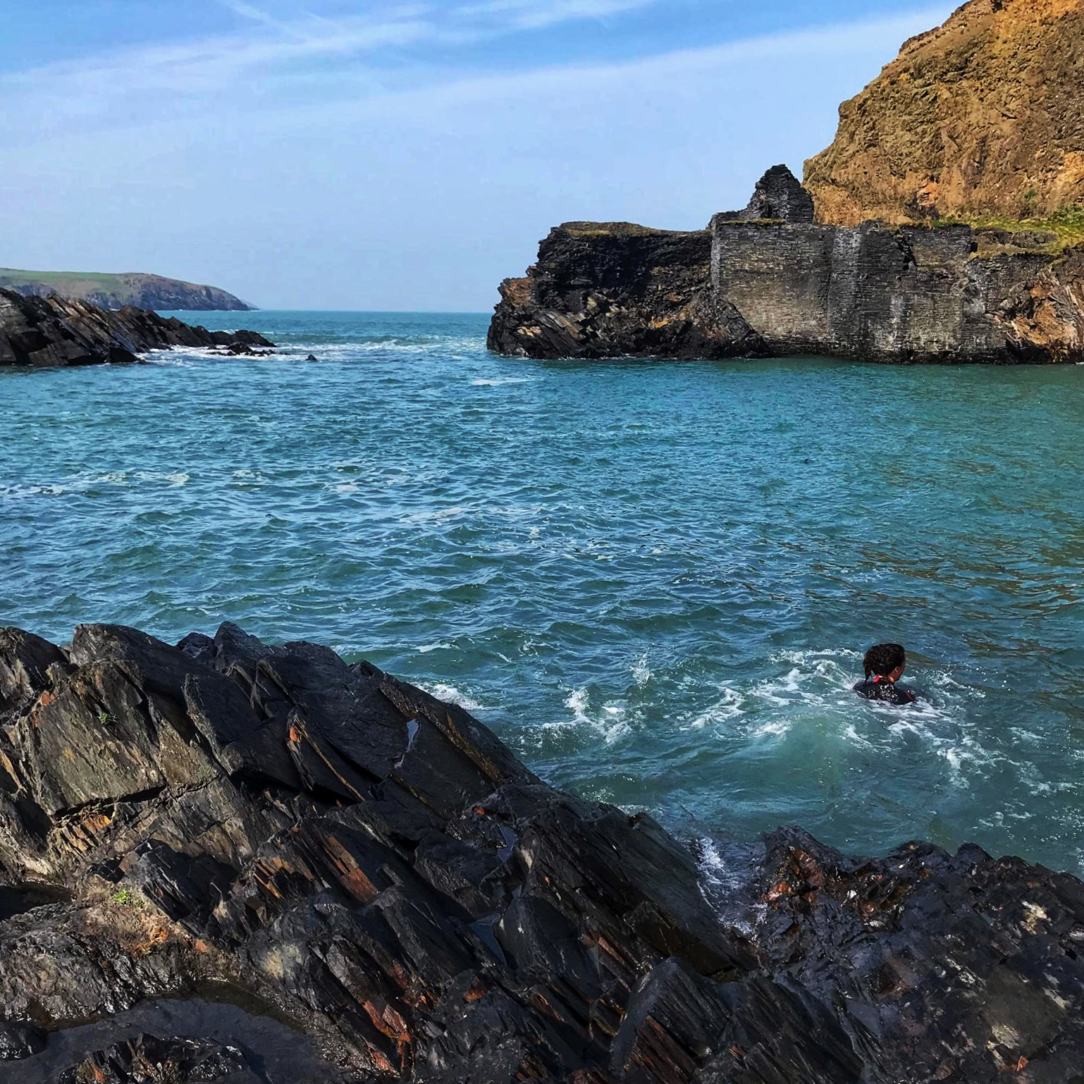 Photo: Blue lagoon, Pembrokeshire.