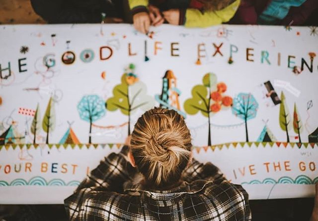 Help! There's a big gap in my life about the size and shape of @goodlifeexperience 🤷🏼‍♀️ Can we do it all again please? 💥 📸 by @wearesightseers of the amazing @theboyfrost x @stitch_school Supper Cloth 💥