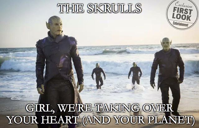 #theskrulls #newalbumdropping #spring2019 #alsomakingdempantiesdrop #friendsforeels #captainmarvel
