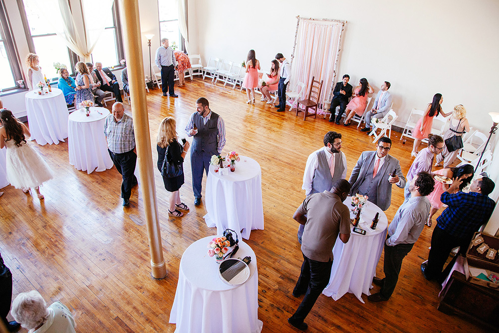 COCKTAIL PARTY WEDDING - CEREMONY & STANDING RECEPTION