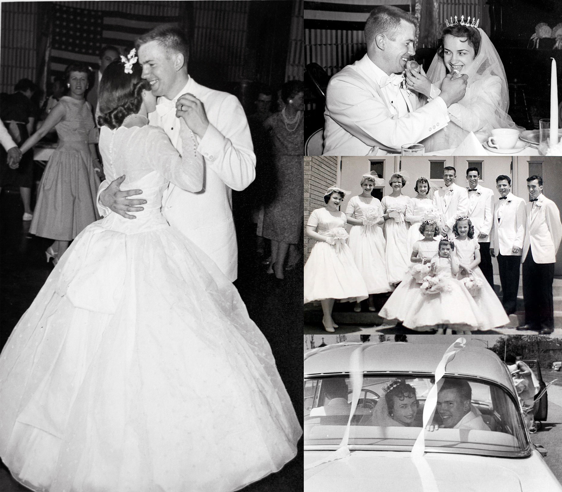 Rosalie and Arthur's wedding day - May 17, 1958 - Our Lady Gate of Heaven church, south side of Chicago.