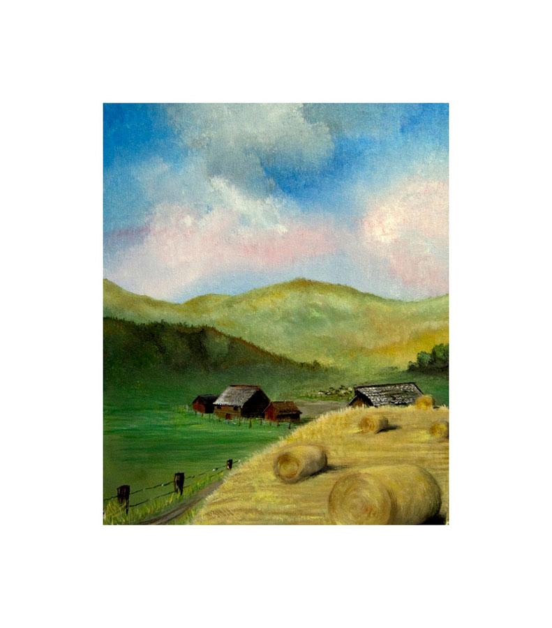 Hay Harvest, Acrylic, 2012
