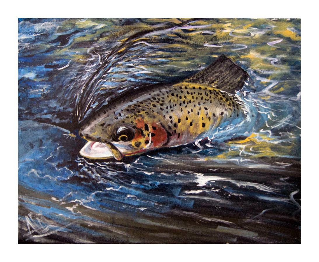 Fly Fishin', Acrylic, 2012