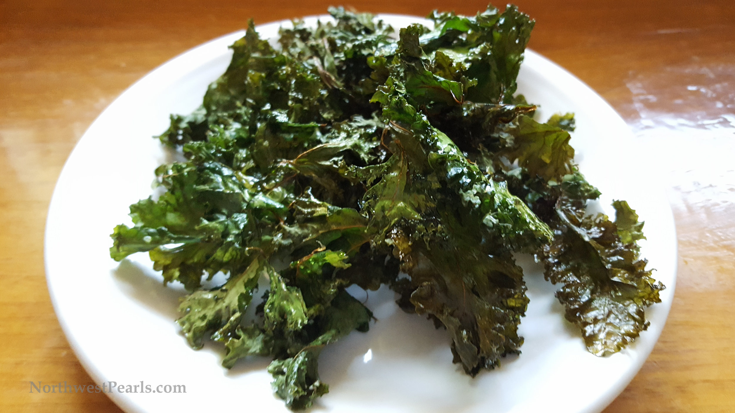 Northwest Pearls: Baked Kale Chips