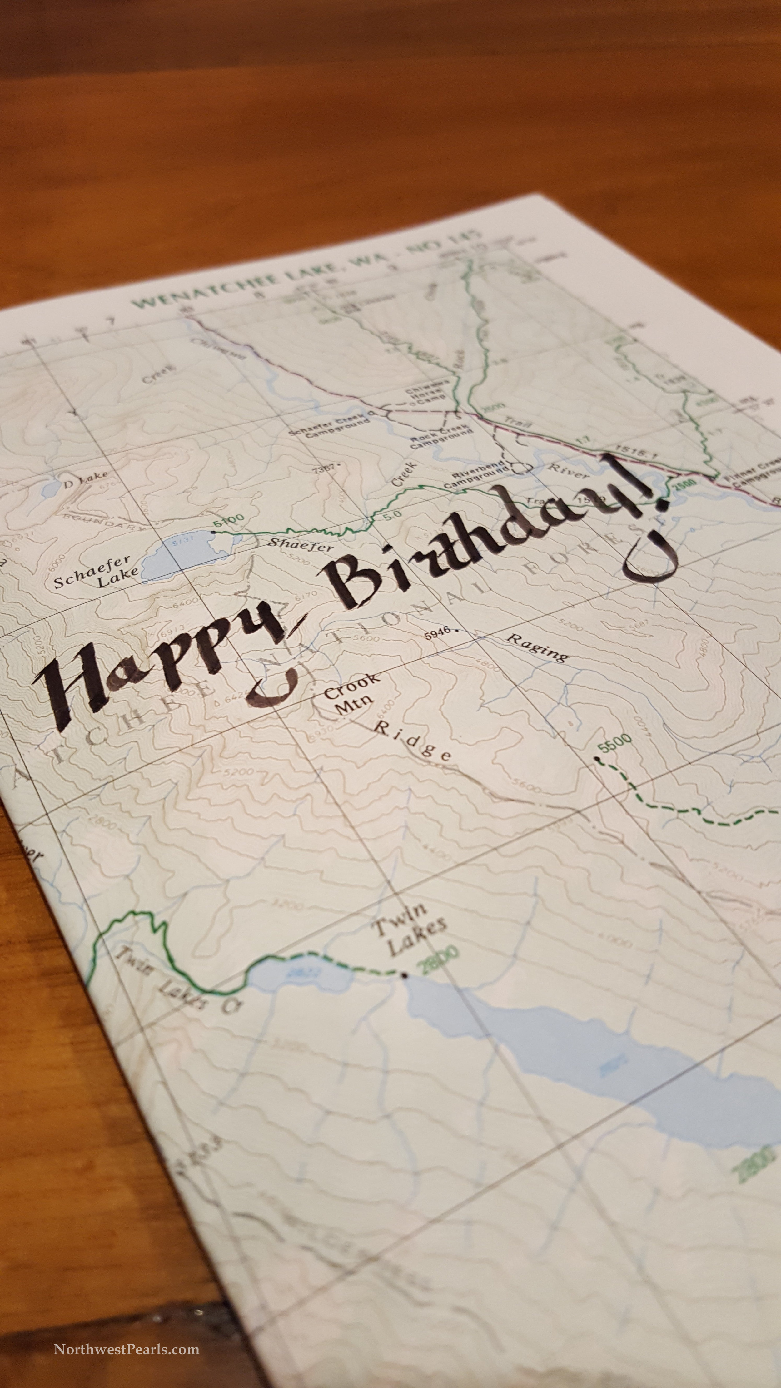 Northwest Pearls: Birthday Card Map