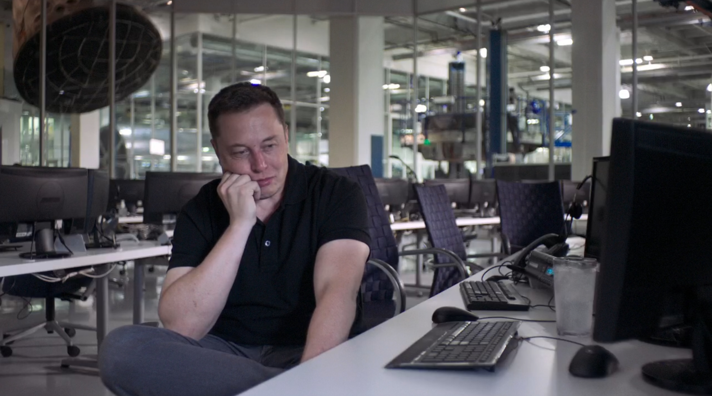 Elon Musk, CEO of  SpaceX , bears resemblance to J. Roy. From  Lo and Behold , 2016.