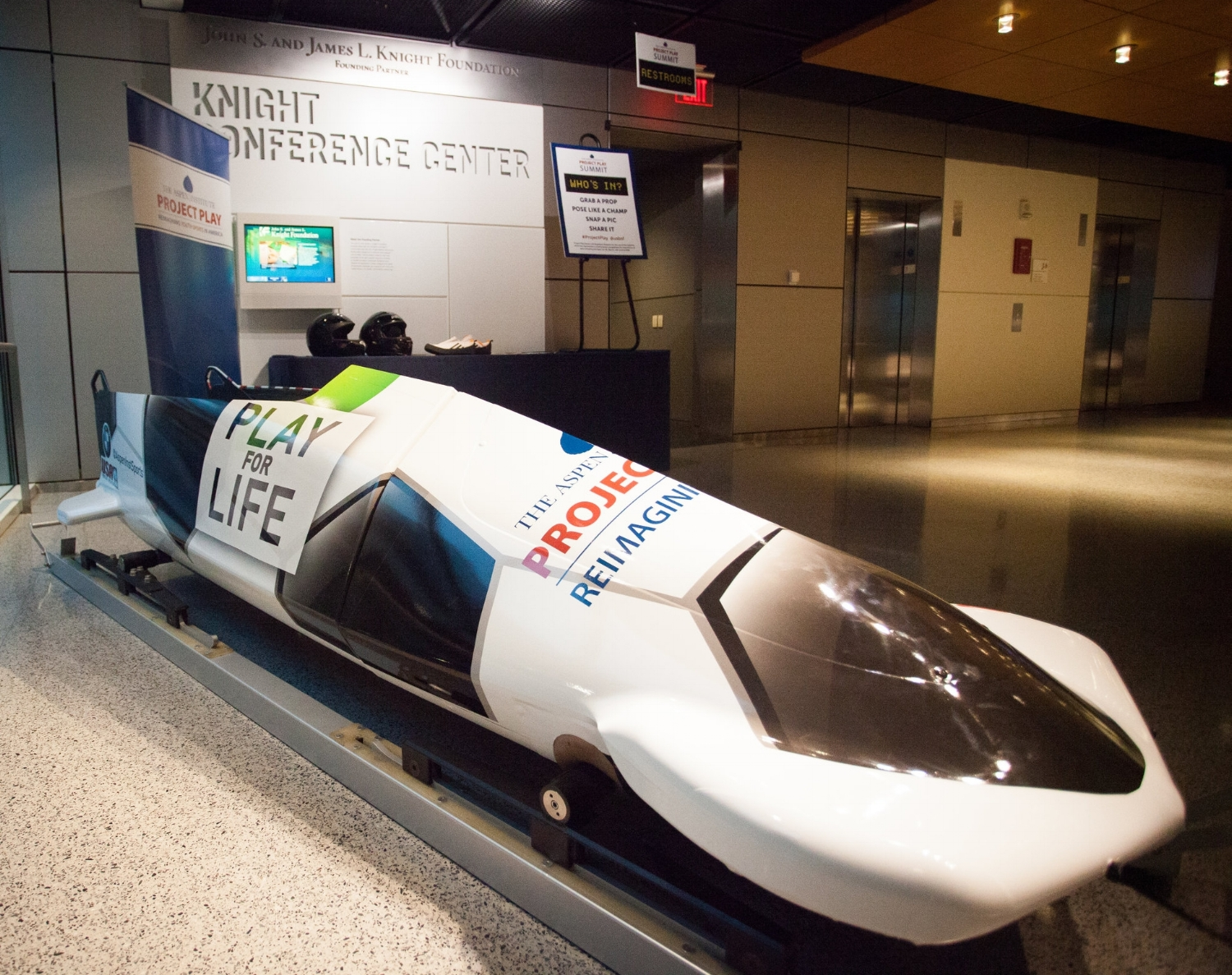 Project Play Bobsled - At the 2017 Project Play Summit, USA Bobsled & Skeleton provided a Sport for All, Play for Life bobsled that is currently active on the professional racing circuit.