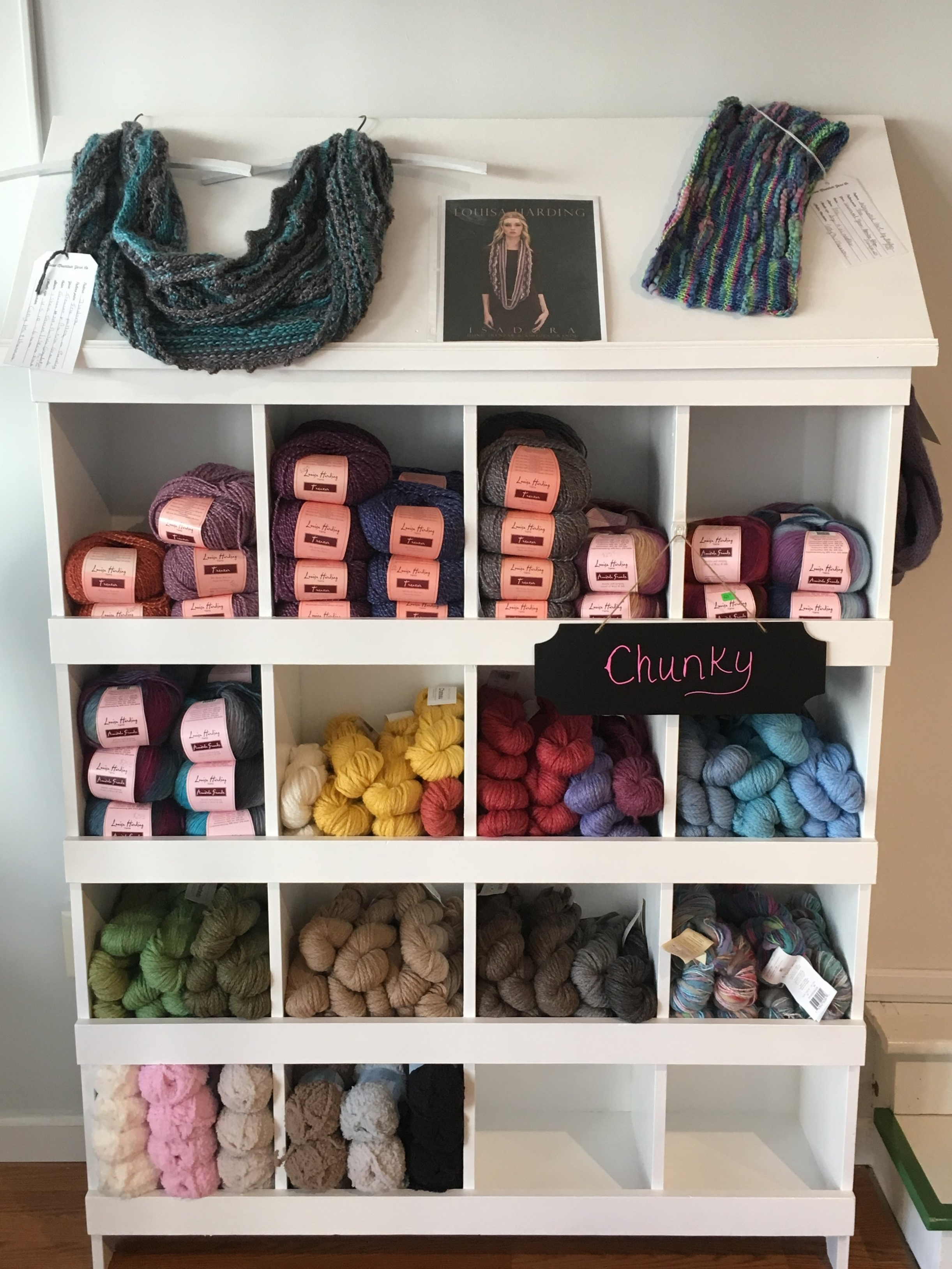 Chunky and bulky yarn