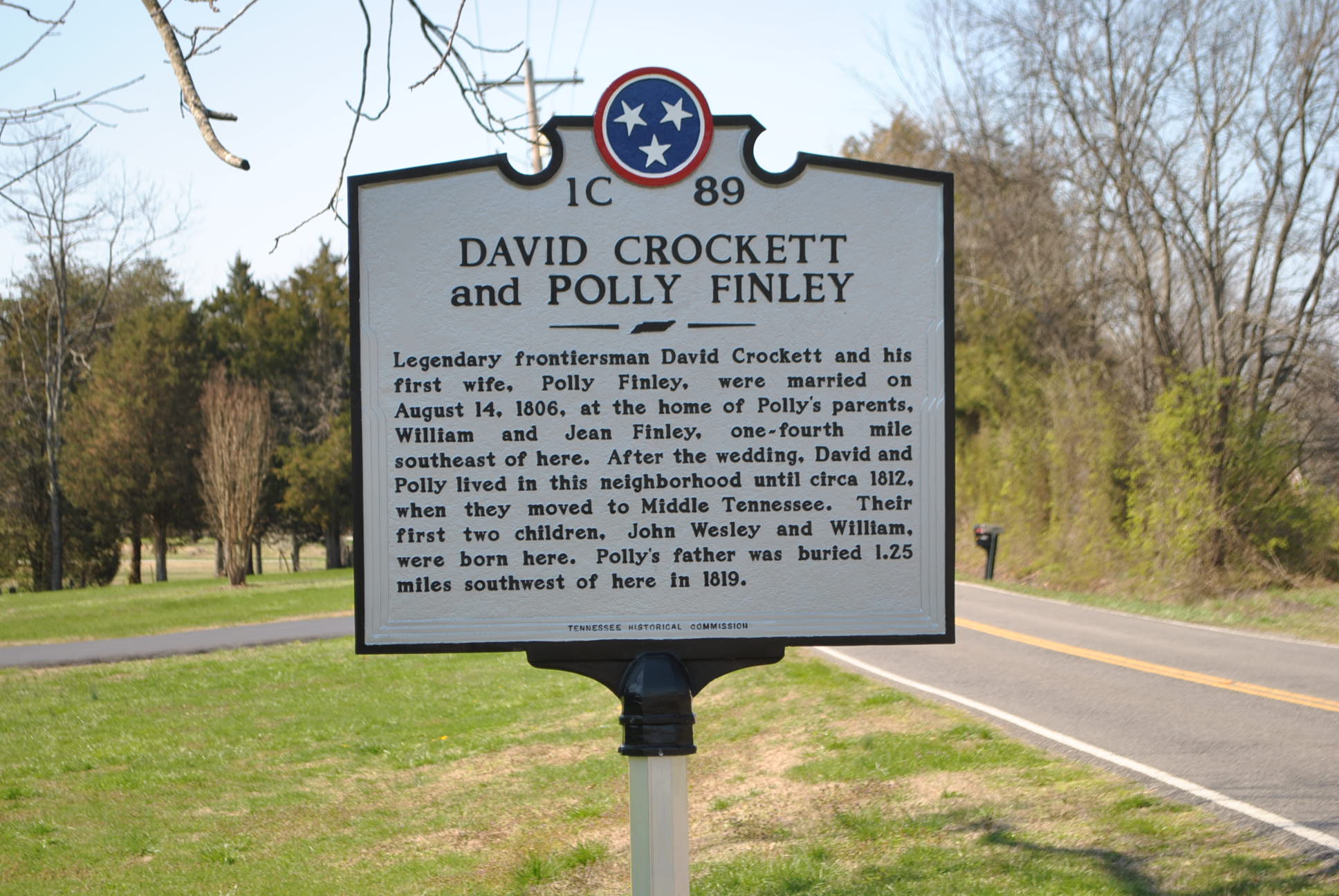 Historical Marker at Finley Gap