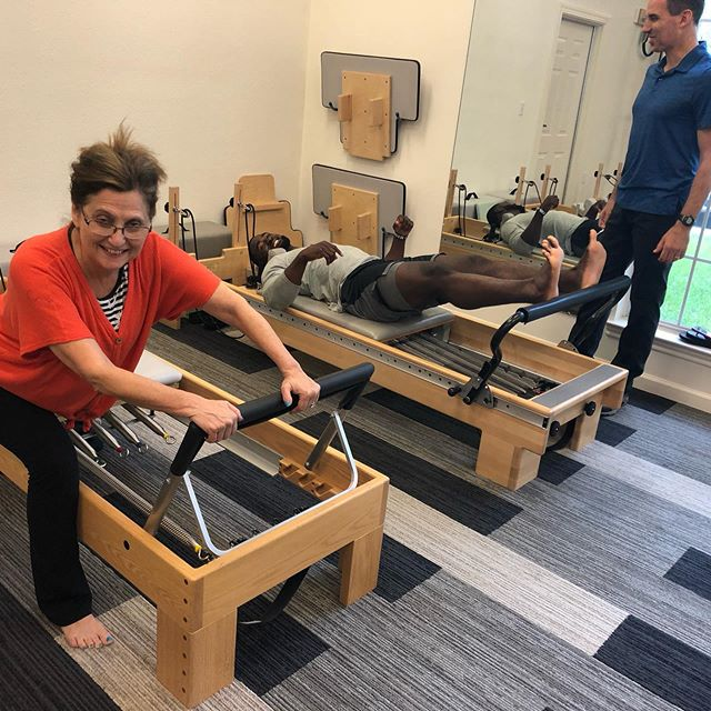 Mulbah Car, running back for the University of Houston, joined us for a Pilates session today! What a blast!!! Mulbah is such a sweet person and an incredible athlete! Too much fun!!!