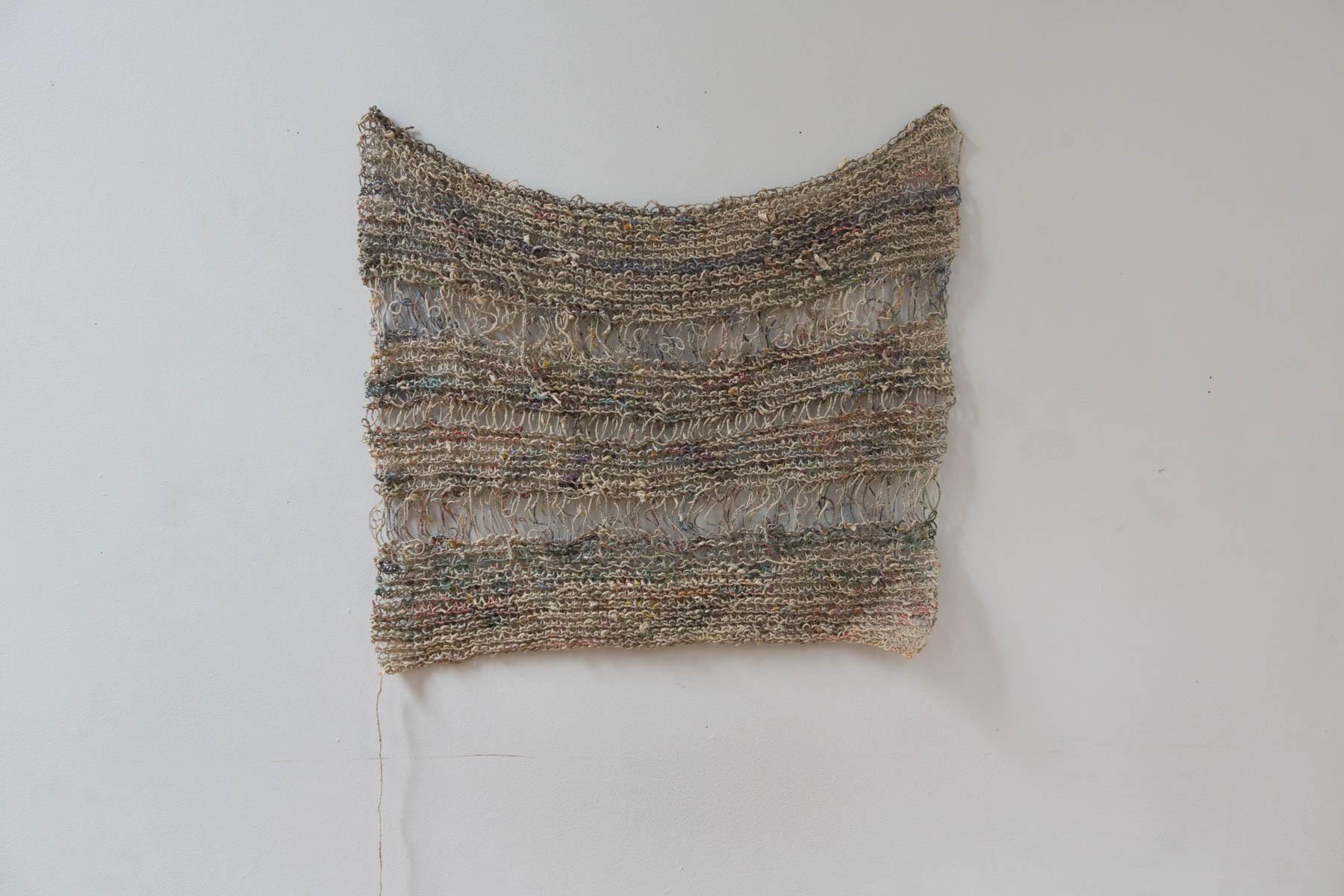 Renaut Fiber Artist SDZ (German Newspaper), 2011 Knitted Spun Newspaper,