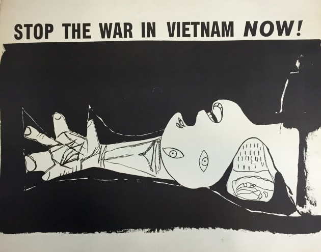 Used to protest the Vietnam War