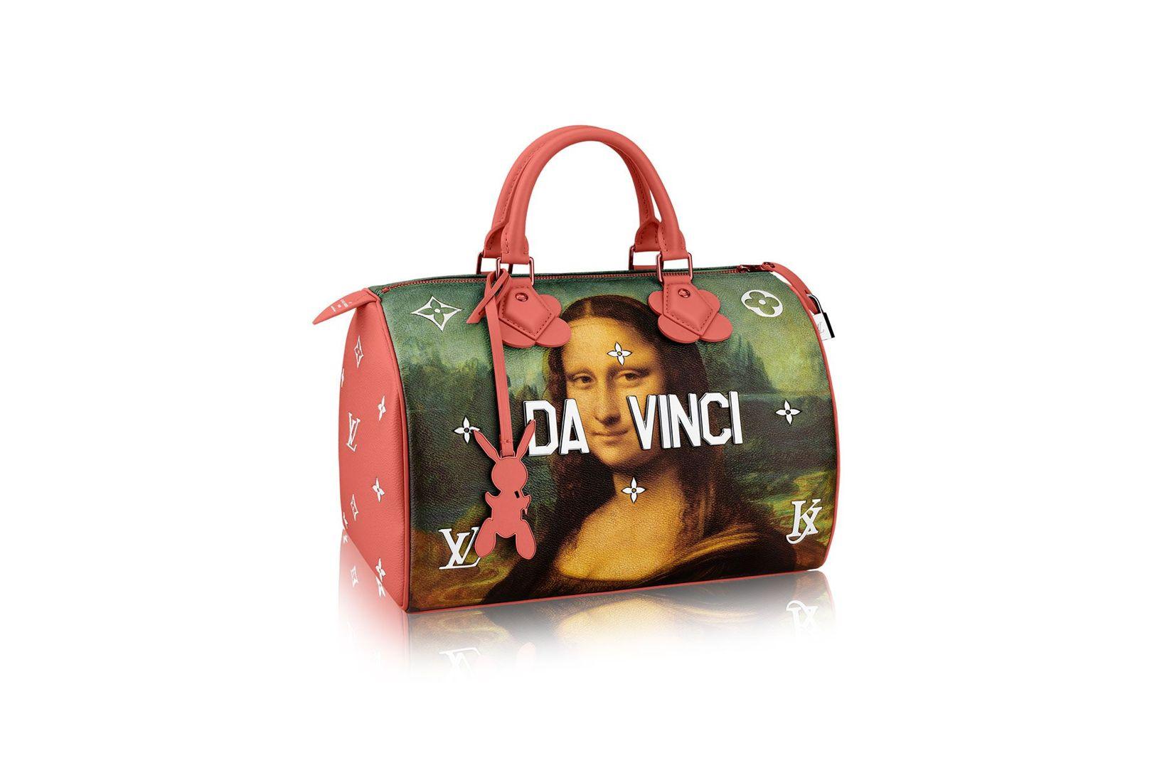 Jeff Koons collaboration with Louis Vuitton, Mona Lisa (by Leonardo da Vinci) bag series