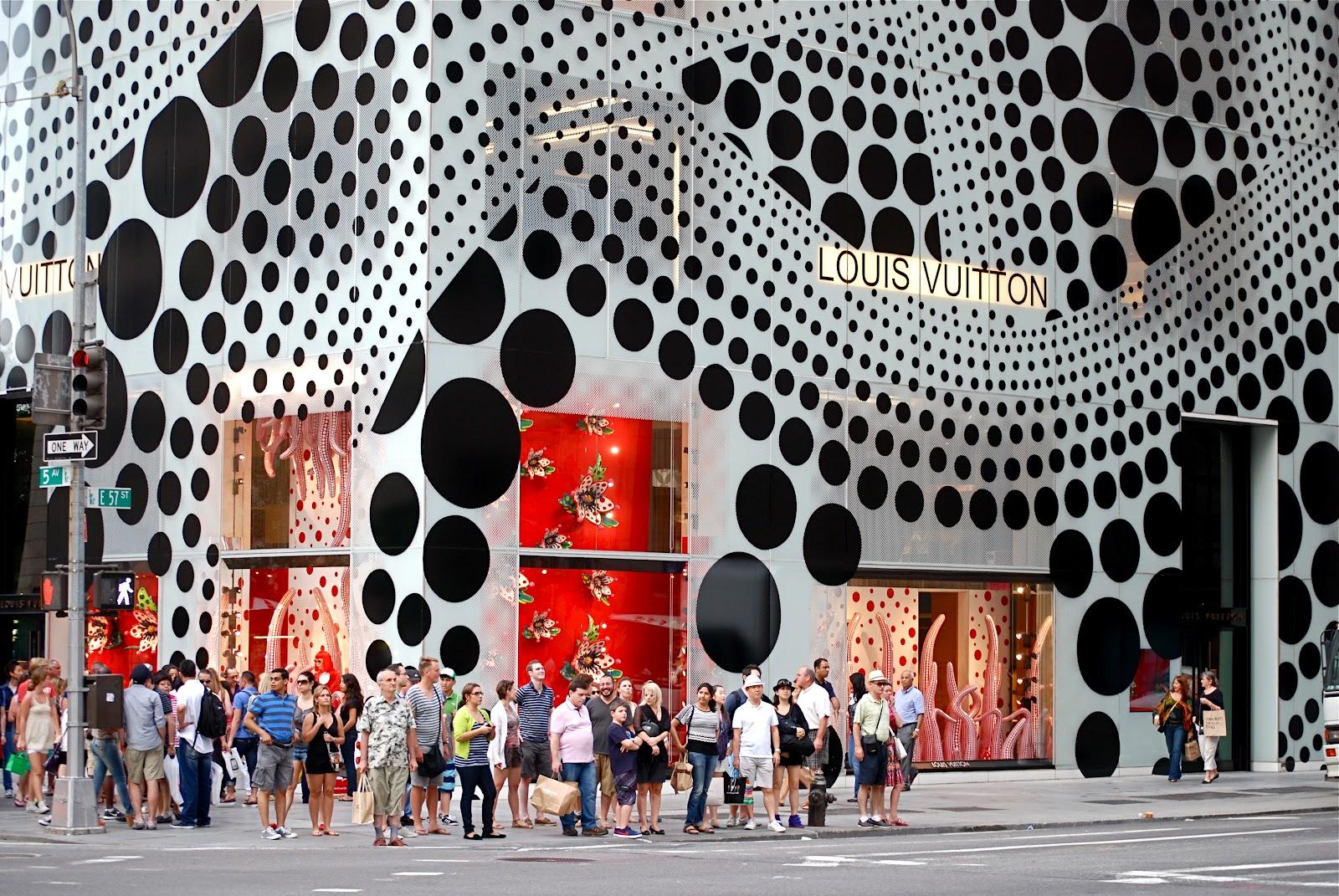 Yayoi Kusama installation and collaboration with Louis Vuitton