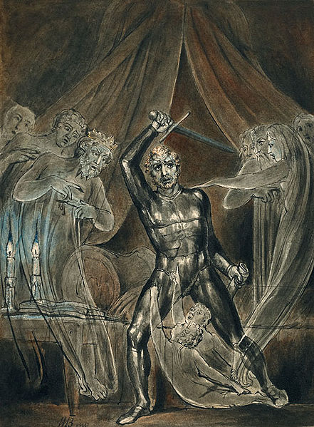 William Blake,  Richard III and the Ghosts,  1806.