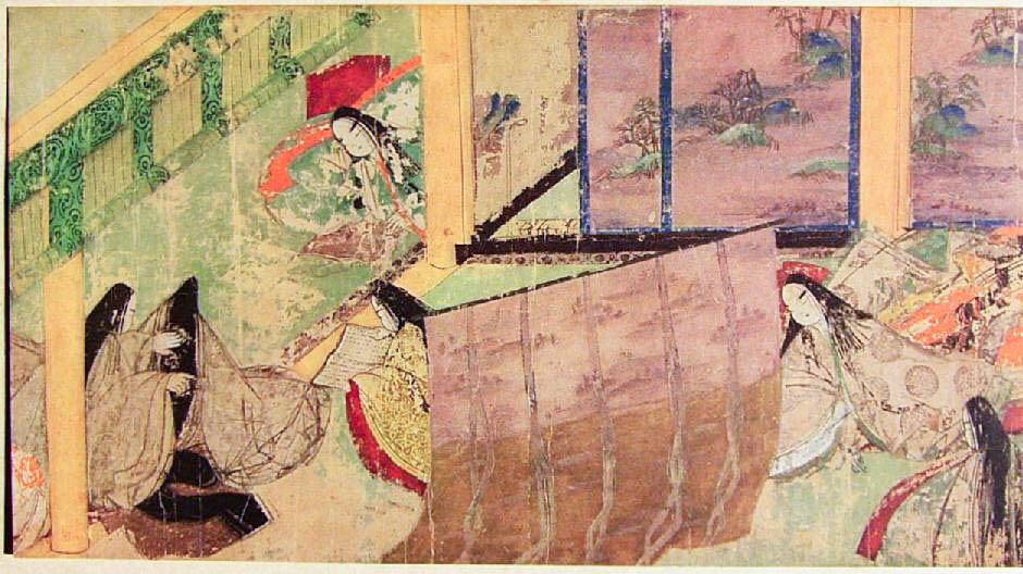Ch. 50 -  Azumaya (Eastern Cottage)  - 12th c. Tokugawa Art Museum handscroll