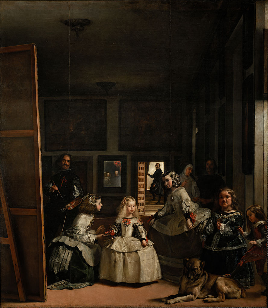 Diego Velázquez,  Las Meninas , 1656.   Commissioned by King Philip IV and Queen Mariana of Spain of their heir Infanta Margaret Theresa.