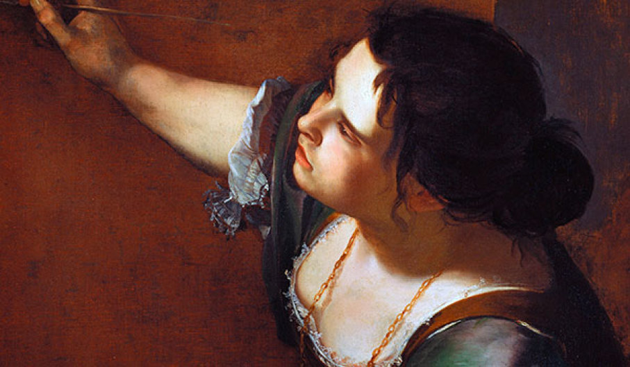 Artemisia Gentileschi, (detail) Self-Portrait as the Allegory of Painting   (La Pittura) , 1638–1639, Royal Collection