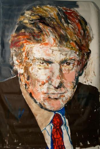 William Quigley portrait of Donald Trump