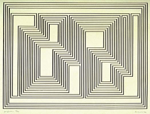 Josef Albers,  untitled  lithograph, 1942