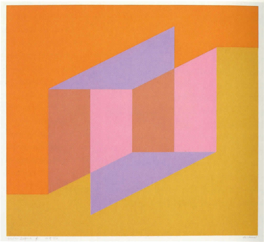Josef Albers,  Never Before f , 1976