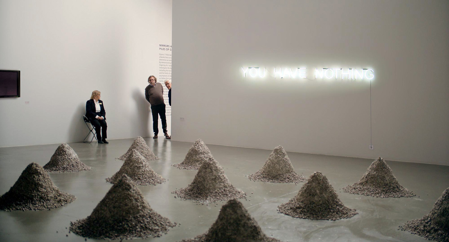 Chaes Bang plays Christian in  The Square . Christian is the chief curator at the Swedish contemporary art museum X-Royal. Pictured here is Julian's (aka Dominic West) artwork which inspired by Robert Smithson