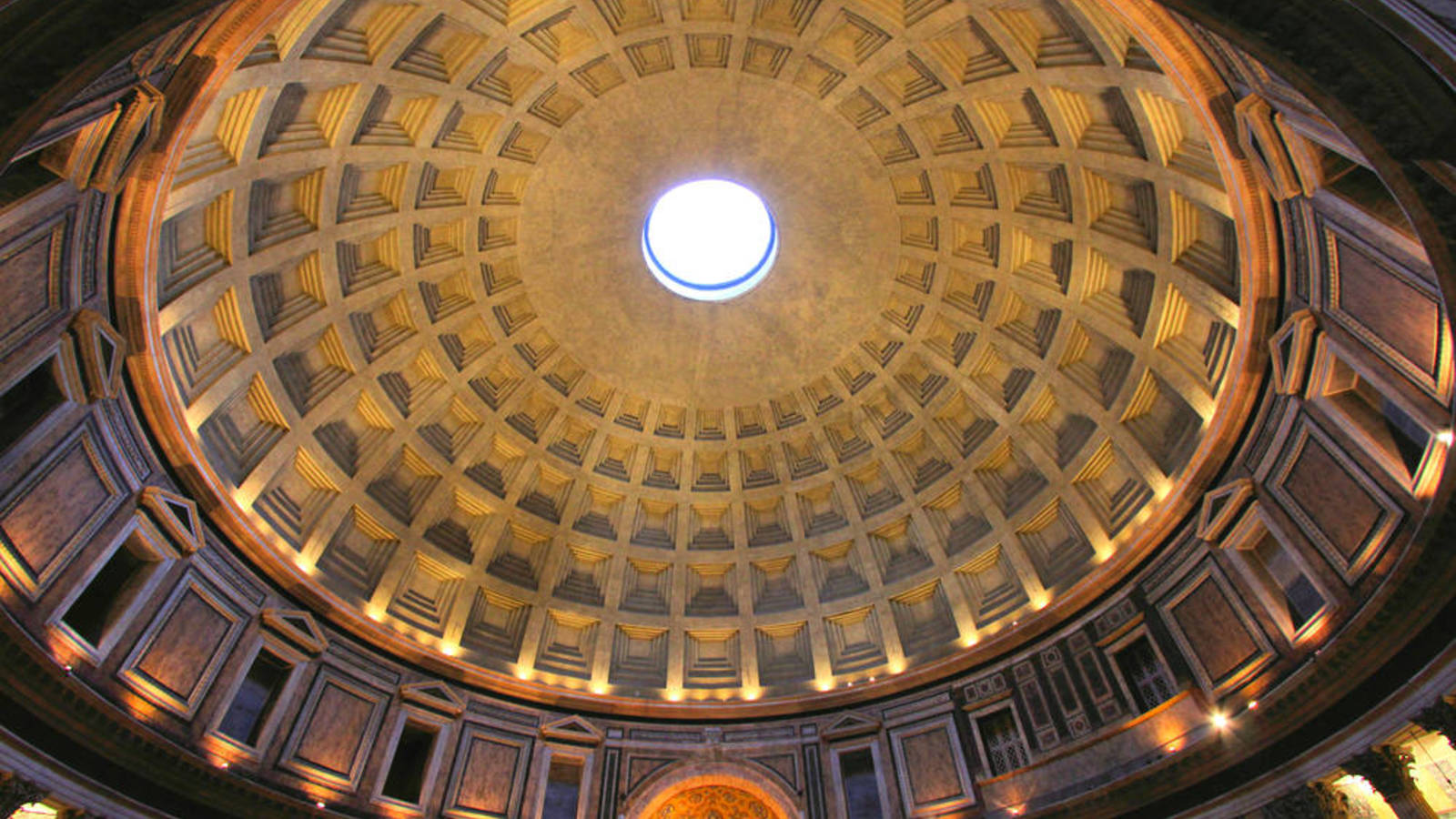 Pantheon , Rome, Italy, 125 CE