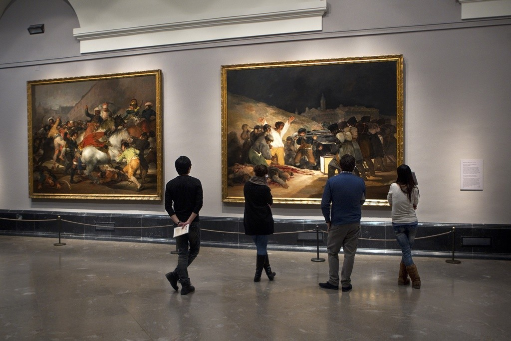 Goya's  Third of May  at home in the Prado Museum, Madrid
