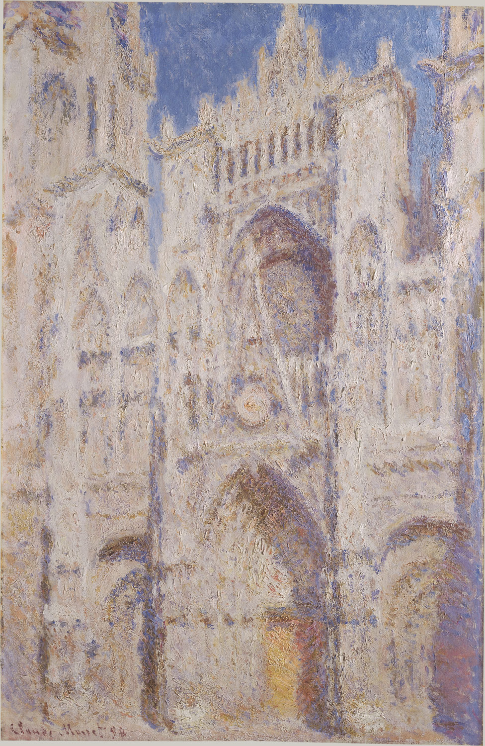 Claude Monet,  Rouen Cathedral: The Portal (Sunlight) , 1894, oil on canvas