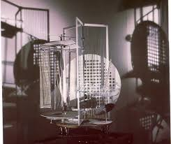 Laszlo Moholy-Nagy,  Light Space Modulator , 1930 (a picture of it in action with light!)