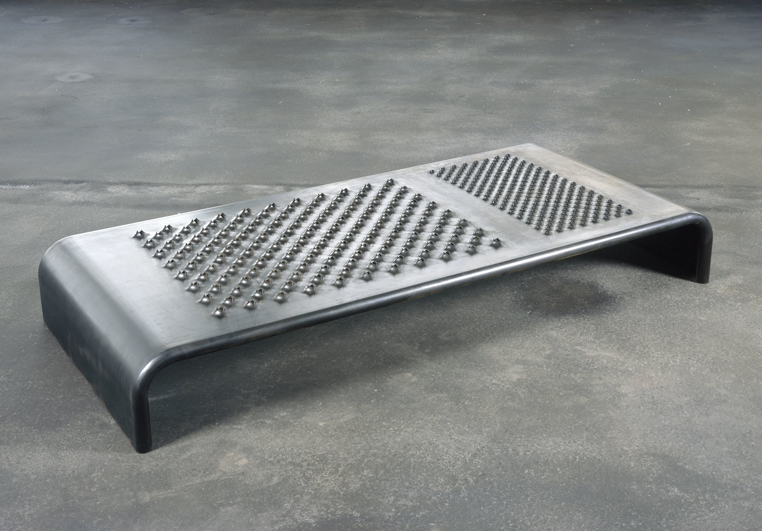 Mona Hatoum,  Daybed , 2008, black finished steel