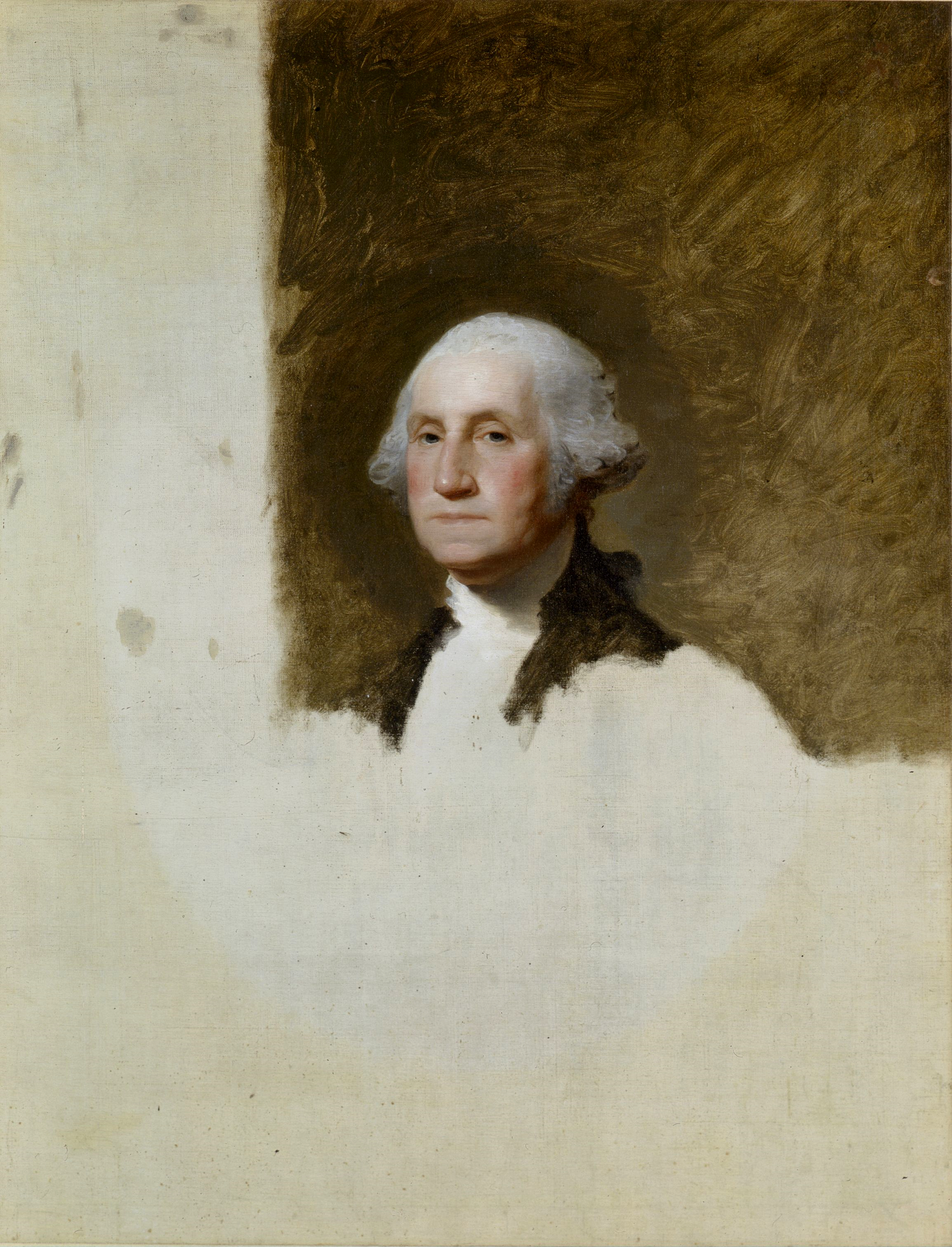 Gilbert Stuart,  Portrait of George Washington , 1796