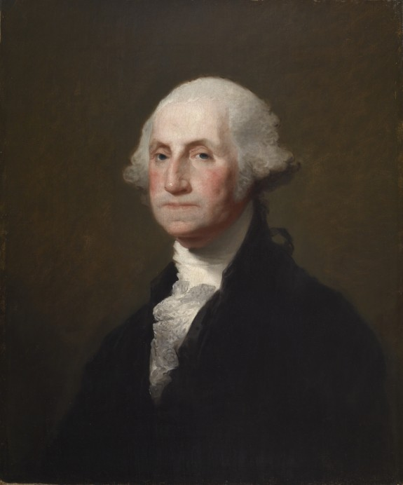 Gibert Stuart,  George Washington , Athenaeum portrait