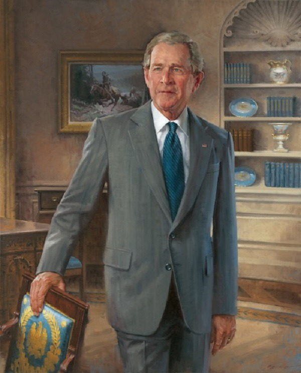 Portrait of George W. Bush  by John Howard Sanden, 2012