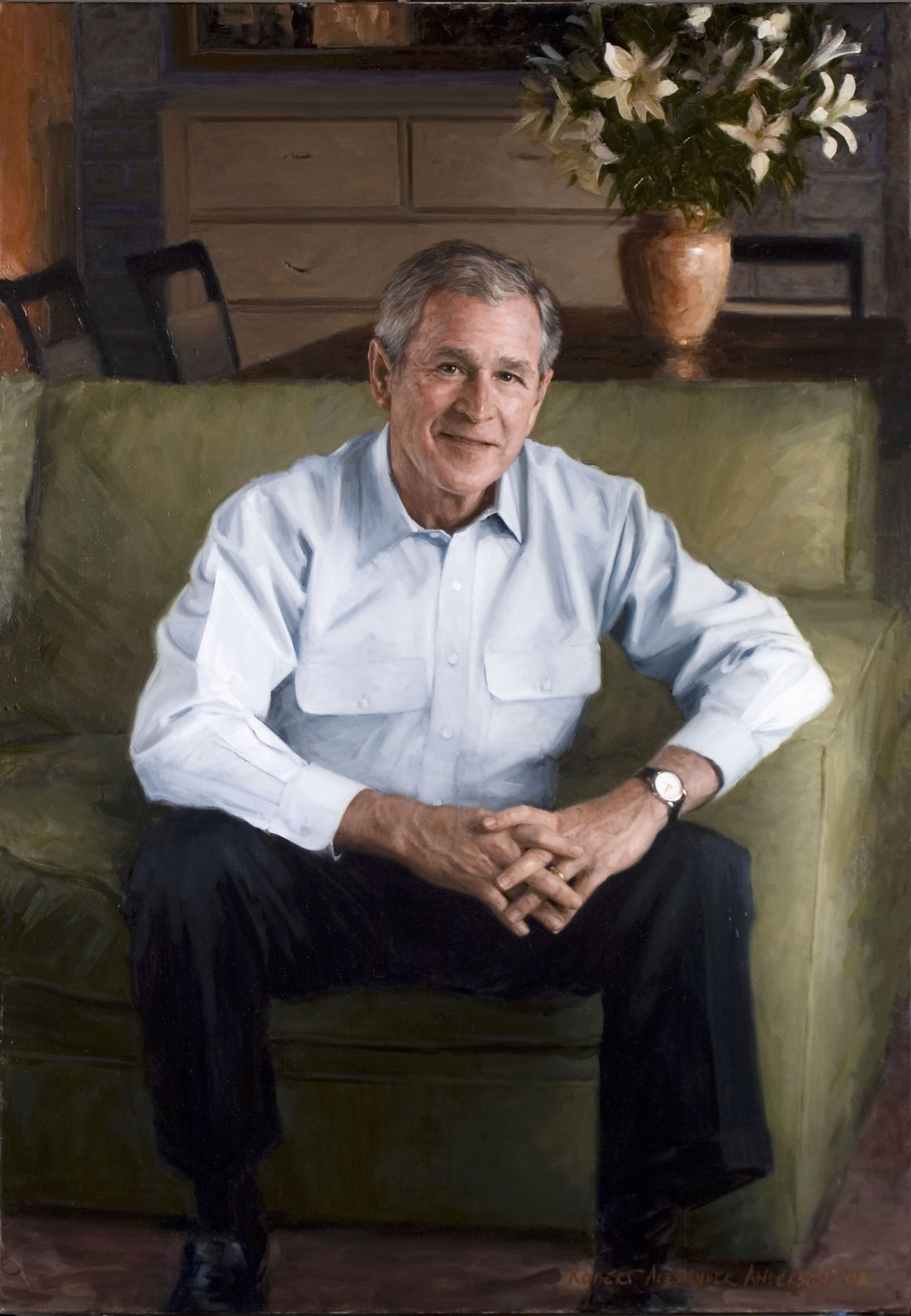 Robert Anderson,  Portrait of George W Bush , 2008
