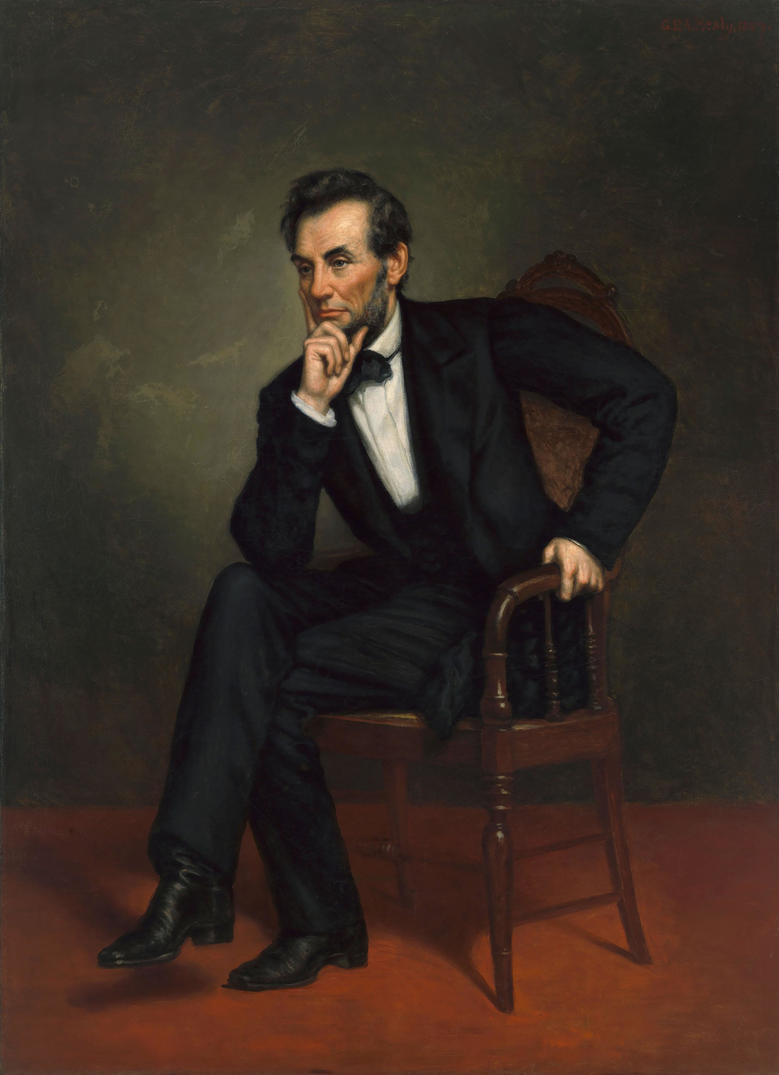 George Peter Alexander Healy (1813–1894),  Portrait of Abraham Lincoln , Oil on canvas, 1887