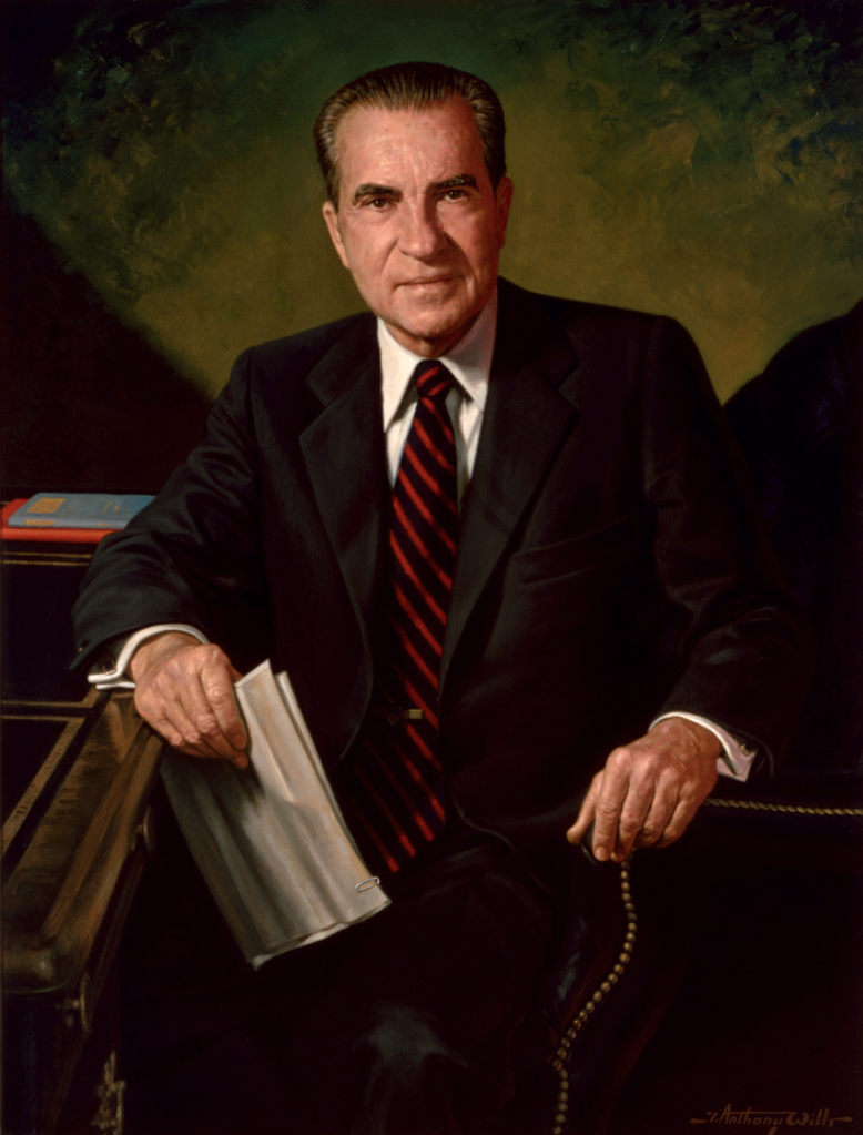 Portrait of Richard Nixon  by James Anthony Wills, 1984