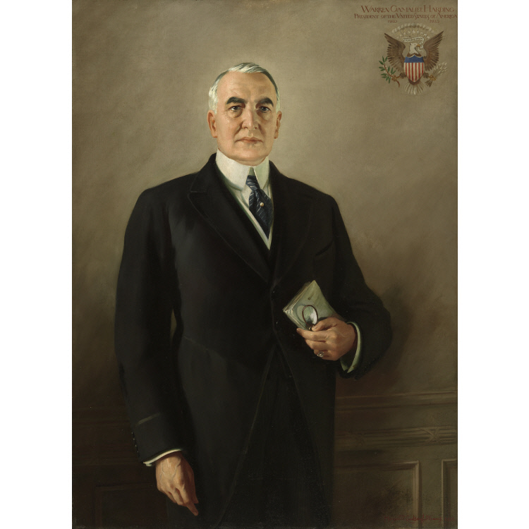 Margaret Lindsay Williams,  Portrait of Warren G Harding , 1923