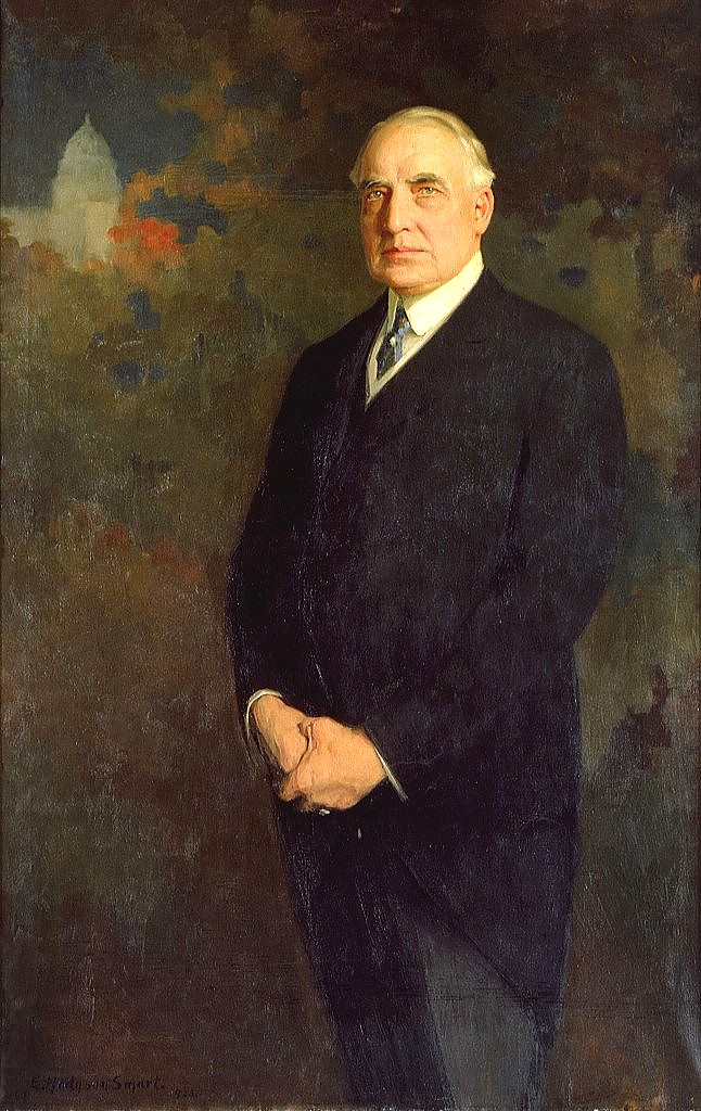 Warren G. Harding Official White House Portrait,  1922, Edmund Hodgson Smart