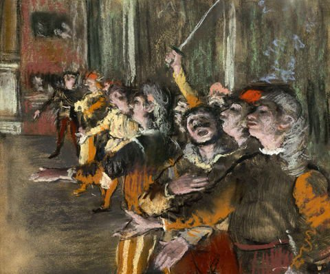 Edgar Degas,  Les Choristes, 1877. Found on a bus! Courtesy Wikimedia Commons.