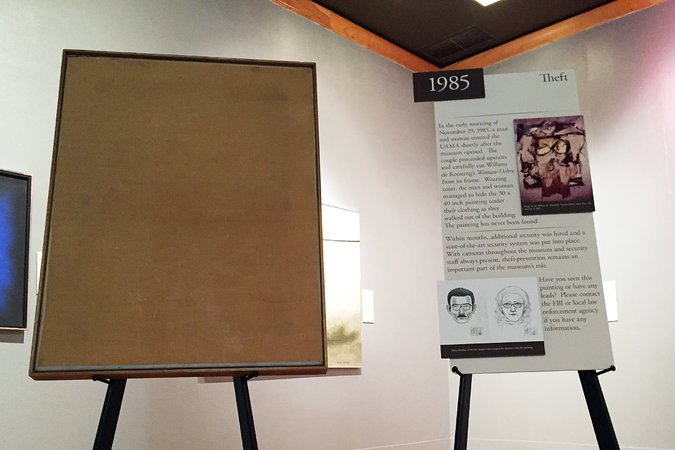 Blank canvas kept on display at the University of Arizona Art Museum for almost 32 years.