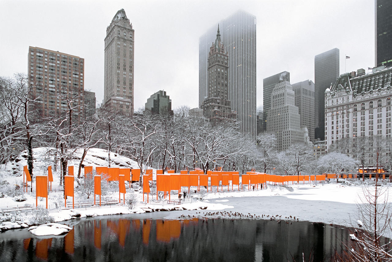 Christo and Jeanne-Claude,  The Gates , Central Park, New York City, 1979-2005.  Photo: Wolfgang Volz