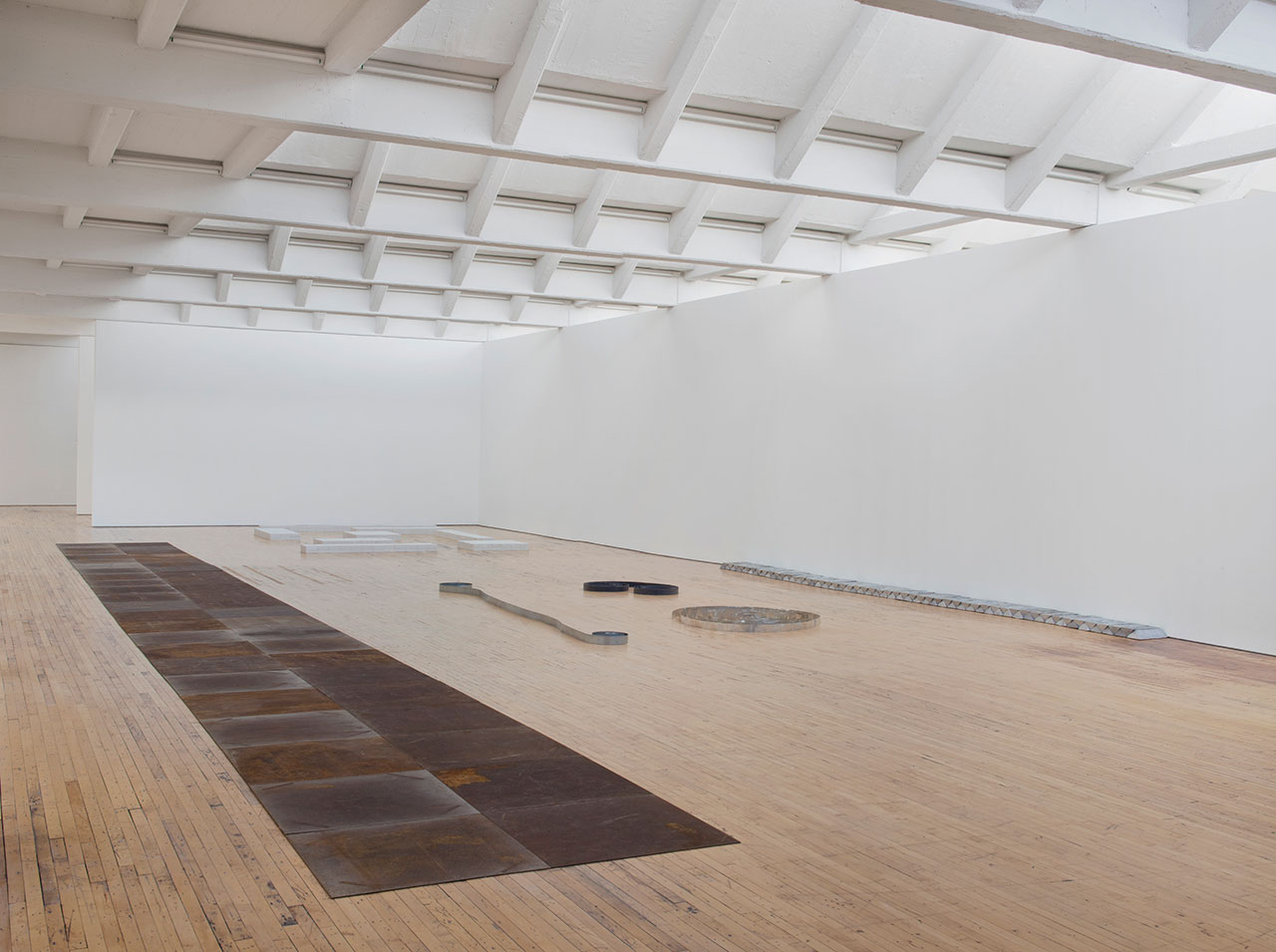 Installation view, 'Carl Andre: Sculpture as Place, 1958–2010,'  Similar to the one Erin saw