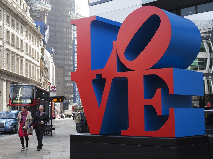 Robert Indiana,  LOVE , in New York City