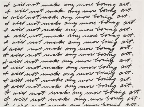 John Baldessari,  I Will Not Making Any More Boring Art , 1971, Lithograph