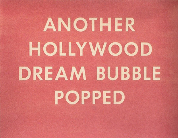 Edward Ruscha,  Another Hollywood Dream Bubble Popped , 1976