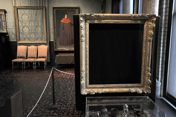 Frames left empty in the Dutch Room