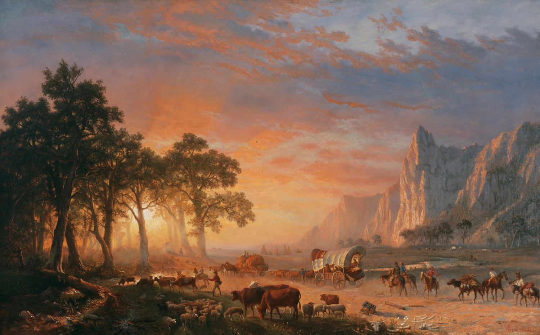 Albert Bierstadt,  Emigrants Crossing the Plains , 1867