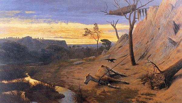 Valentine Walter Bromley,   Crow Indian Burial , 1876