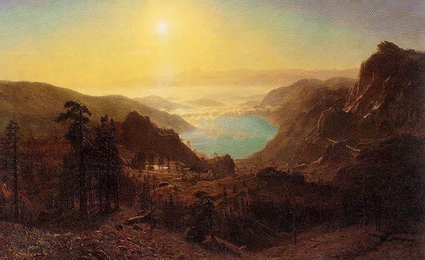 Albert Bierstadt,   Donner Lake from the Summit , 1873